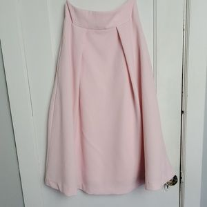 Rubber Ducky A line  midi pink skirt size small .